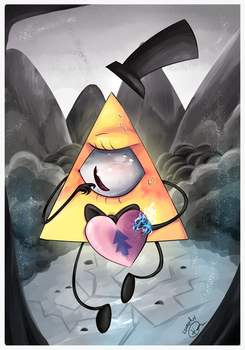 Be mine ~ Happy Valentines Day From Bill Cipher by KonnyArt