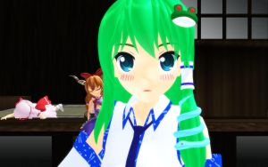 Sanae Does the Ievan Polkka [Video in Description] by Trouble-san
