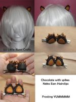 Kawaii chocolate with spikes Neko Ears by lkcrafts