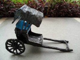 Rickshaw Paper Sculpture by aakritiarts