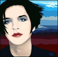 B Molko fan art by neptunesguns