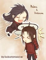 Madara and Hashirama by KarlaFrazetty