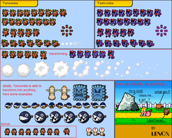 Tanoomba MLBIS sprite sheet by lenoxmst