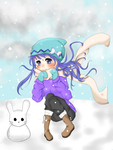 Snow girl redraw- November 1, 2014 by Azalea669