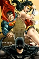 DC Trinity (colors) by FantasticMystery