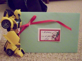 Bee with Card by DemonicHalfShell