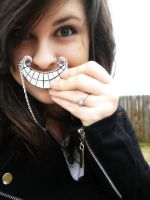 Cheshire Cat Smile Necklace by justinsgirl8887