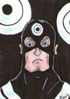 Bullseye sketch card by johnnyism