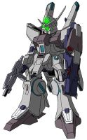 ARX-014 Silver Bullet w/ Gundam face by unoservix