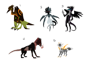 Mixed Creature Adopts 70 [Point Option Added!] by Adopt-Monstar