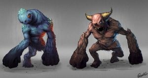 Creature designs by Matija5850