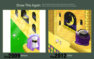 Draw This Again - Kirby Vs Meta Knight by Dragonfly929