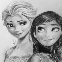 Elsa and Anna - Frozen by equillybrium