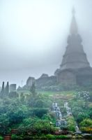 Twin Pagodas, Doi Inthanon by JBord