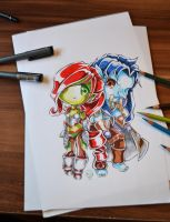Commission: WoW couple by Lighane