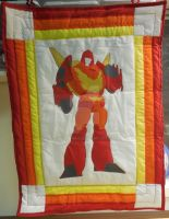 transformers quilted wall hanging by Shihazriah