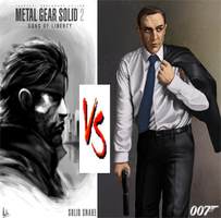 James Bond VS Solid Snake by DeRpYhOoVvEs