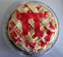 Pi Pie Cake by thanxforthefish