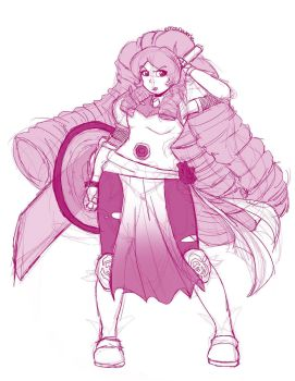 .:SU Warrior Rose Quartz:. by Dawnrie