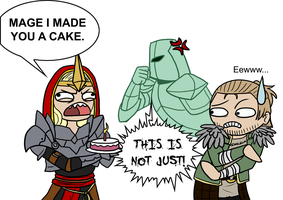 The cake is a lie by NecrosisDemon