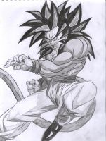 Goku SSJ4. by kingvegito