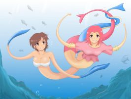 elastic two mermaids by yooi
