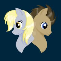 Derpy Hooves and the Doctor by sweetangelookami