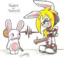 AT:. Rabbit vs Rabbid by Crystalhedgie
