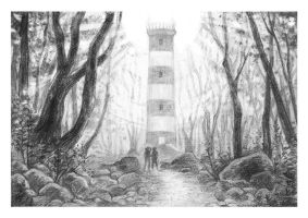 Lighthouse in the Woods by Finnguala