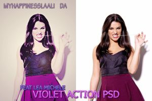 Violet Action PSD by MyHappinessLaali