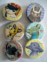 Pokemon team buttons by Sparrow-Heart