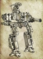 mecha front by abraibarnabas