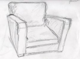 Sketches - The Big Chair by BlackBoxBeing