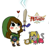 The legend of Petunio: Skyward Sword(? by anyoo