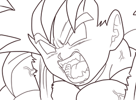 GT Goku - Lineart 01 by Zed-Creations