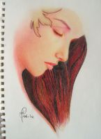 first coloured pencil sketch by Marion84