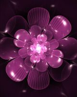 funky fuscia flower by boot-cheese-3000