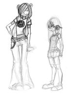 Concept Characters 2 and 3 by gabo-the-baka