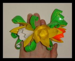 Duct Tape Daffodil Corsage by DuckTapeBandit