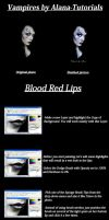 Red Lips Tutorial by Alana by VampHunter777