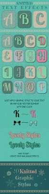 FREE Knitted Text Effects. Graphic Styles by HelgaHelgy