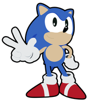 Classic Sonic PNG by CmOrigins
