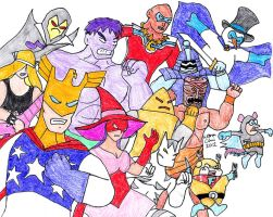 Justice Friends Assemble Attack by Rocket-Stevo