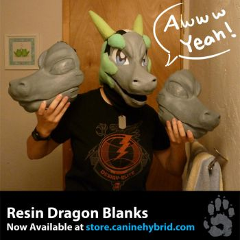 Resin Dragon Blanks: For sale! by CanineHybrid