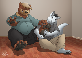 Bear paw tickle by Dj-Rodney