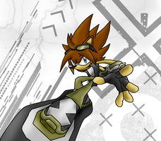 Axel in Sonic riders by Phantom-0501