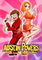KP and Larry in AUSTIN POWERS by Lychee-Soda