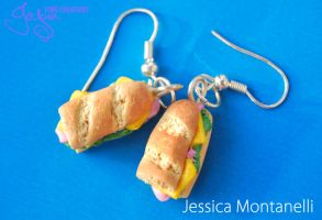 Ham Cheese Sandwiches Earrings by Jeyam-PClay