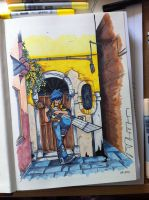 first sketch in my Venetian sketchbook by nichangell