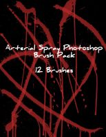 Arterial Spray Photoshop Brush by Zeds-Stock